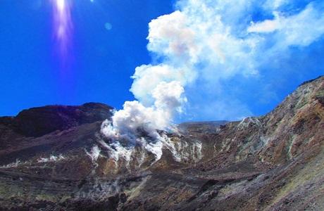 El volcán Turrialba y un espectáculo natural